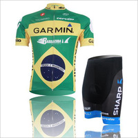 Free Shipping Brazil Style Word-Cup Cycling Clothes Breathable Sports Wear Bicycle Short-Sleeved Suits Bike Jerseys