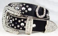 free shipping western cowgirl horseshoe rhinestone bling belts