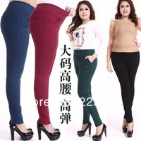 Free shipping 2014 New Autumn winter Excellent Quality Fashion Extra Large Plus Size 3XL-6XL Ladies Pencil Pants Skinny Trousers