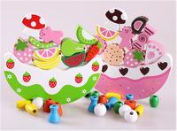Simulation Balanced Fruit Cake Boutique Building Blocks Early Childhood Educational Toys JF33