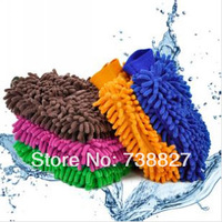 Double Side Car Wash Glove,Wash Cloth Microfiber Chenille car cleaning cloth,chenille car cleaning glove,drop shipping 2pcs/lot