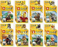 8pcs/set Assembly Quality Castle Roman soldier Viking Building Blocks Sets Bela Minifigures Boys Toys Compatible with lego