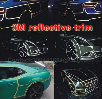 45m Car Body PVC Blue Reflective Sheet Vinyl Moulding Trim Film Water Proof 3M Tape Universal JDM ACCORD S14(China (Mainland))