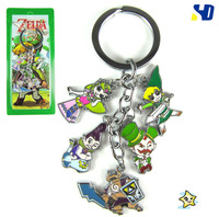 Wholesale 20pcs/lot Legend Of Zelda hero figure keychains,Fashion Best keychain gift for children
