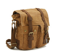 Free shipping 2014 New Men Retro cotton casual Canvas Massege Trim Book Messenger Bag Shoulder bag Camera canvas bag