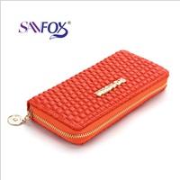 2014 women's wallet female long design day clutch female fashion 9 color  designer
