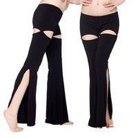 2014 New Fashion Upscale dual-port split Crystal Hemp Belly Dance pants TP 9001