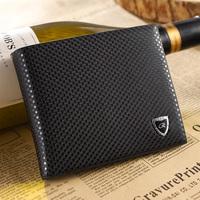 Male cowhide wallet genuine leather wallet short design fashion elegant wallet card holder wallet  designer