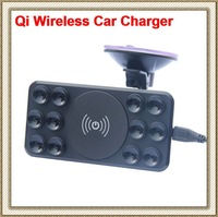 QI Car Wireless Charger Charging Transmitter Suction Cup Mount Holder for Nexus7/5/4 Nokia Lumia 920 Samsung Note2/3 S3/4 iPhone