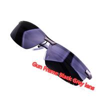 CHEAP!!!!POLARIZED Aluminum -Magnesium Alloy Sunglasses Mens Semi-Rimless Sports Fishing Golfing Driving Glasses-Gun Gray