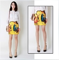 New desigual 2014 Fashion skirts womens  Skirt Retro canvas printing summer H6006
