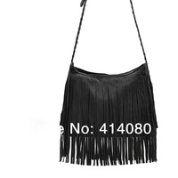 Free Shipping hot sale bags faux Suede Fringe Tassel Shoulder Bag women's fashion handbag 6 colors Factory dirctly sale