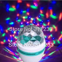 Full Colors 3W E27 RGB LED Crystal Magic Ball Light Home-use Rotating DJ Party Lamp Stage Bulb Rotating Lamp Bar Decoration