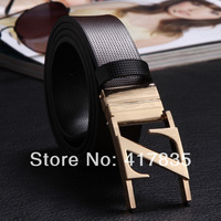 2014  Fashion Design Men's Belt Luxury  Leather Belts For Men 360 rotary buckle Z  buckle  Hot  leisure High quality Low price