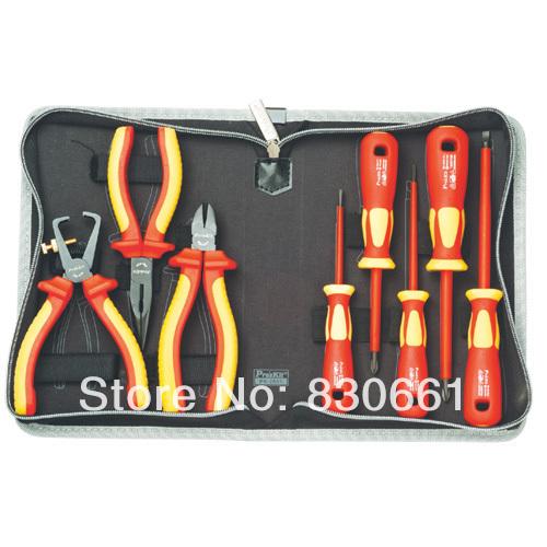 Hand Tool Set Proskit Tool Kit PK-2801 1000V Insulated Screwdriver & Plier Set(China (Mainland))