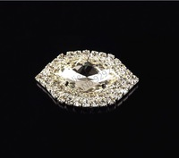 free shipping 2pcs/pack 30*50mm eye-shape crystal rhinestone button 4 holes silver plating for hat shoes bags sofa decoration