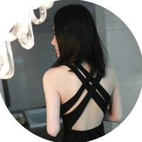 New A64 women's modal cotton big cross back sexy racerback dress one-piece dress