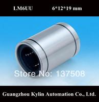 On Sale! 10 pcs LM6UU/LB6UU Linear Bearing 6x12x19 mm,free shipping 6mm Caliber Standard linear bearings