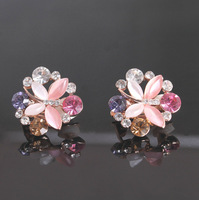 Wholesale Platinum Plated Austrian Crystal Earrings,Fashion No Ear Pierced Ear Clip,Fashion Wedding Jewelry CCWTHR212