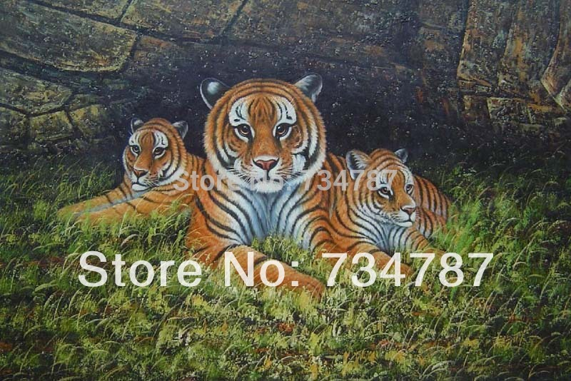 Tiger family drawing - photo#5