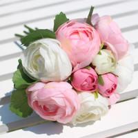 Fresh rose artificial flower silk decoration flower tea bountyless photography props bride holding flowers