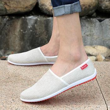 Breathable Man Hemp Summer Flat Shoes Eu 39-44 Модный Outdoor Стиль Light & Soft ...
