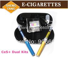 Wholesale Price!50 Pieces/lot Ego CE5+ Double Kits for  E-cigarette E-cig 650mah 900mah 1100mah Kits  Invisible Coil Atomizer