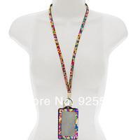 Bulk Wholesale Lot Rhinestone Crystal Bling Lanyard with ID Badge Key Holder