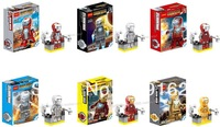Decool Latest Superhero Iron Man Blocks Doll, 6 Style / 1 Lot, 0122-0127 MARK 21334, Children's Toys.