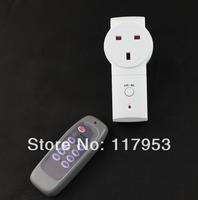 20M United Kingdom UK Plug One Way Sing Gang RF Wireless Remote Control Socket Switch 230V Learning Style Retail Wholesale