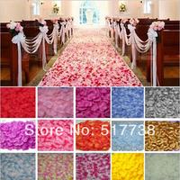 2000pcs Artificial Rose Petals Wedding Petal False Flowers 5cm 40-Colors