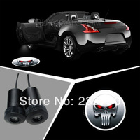 LED Flashbeam 3D Light Car Door Tuning For PUNISHER Logo Light Projector Ghost Shadow LED Logo Puddle Light(4TH GEN) 3218