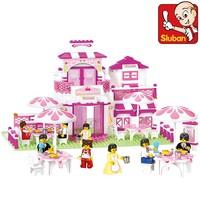 Free Shipping Sluban Romantic Restaurant Building Blocks Sets 306pcs Educational DIY Bricks Toys Without Orignial Box B0150