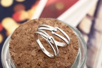 Silver Spring woman upset couple rings Korean tail ring engraved jewelry factory wholesale solid version
