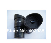 Free shipping WF5X/20mm Microscope Wide Angle Eyepiece Optical Lens with Mounting Size 30.5mm