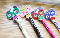 1lot=24pcs cute cartoon korean glass girls shaped gel pen kawaii gel pen for promotional gifts