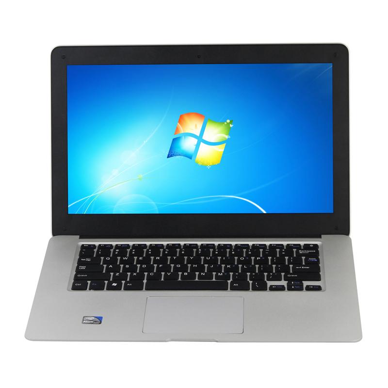 Cheap 14 inch Ultrabook Slim Laptop Computer Intel D2500 1 86GHZ 4GB 250GB WIFI Windows 7