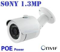 1/3 Sony 1.3 Megapixel 960P waterproof security network Outdoor / Indoor cctv camera IR ip camera mini support POE Power Supply