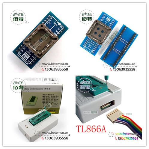 TL866A+PLCC32+PLCC44 2012 October Updated MiniPro TL866A True USB Willem TL866 Programmer in stock(China (Mainland))