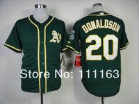 2014 New Athletics Josh Donaldson  #20 Green  Alternate 1 Cool Base Baseball Jersey size:48~56+Mix Order,Free Shipping