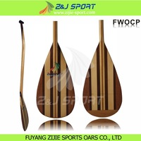 Bent Shaft Wooden Outrigger Canoe Paddle