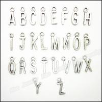 Mix 520pcs Vintage Charms Letter Pendant Tibetan silver Zinc Alloy Fit Bracelet Necklace DIY Metal Jewelry Findings