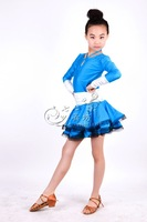 Nagle Latin dance skirt standard child clothes 1338 dance  exhibition suits for girls