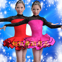 Child Latin dance nagle Latin dance costume competition clothing child Latin dance clothes  exhibition suits for girls