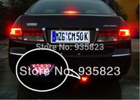 Free shipping 1pcs car taillights 12 led warning light truck (12 v) 50 mm * 70 mm brake lights parking