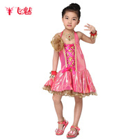 10sets Child  Latin dance performance wear set practice service child dance performance wear  for girls dress wholesale