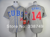 Free Shipping 2014 Cheap Chicago Cubs #14 Ernie Banks Cool Base Baseball Jersey,Embroidery Logos Size M-XXXL