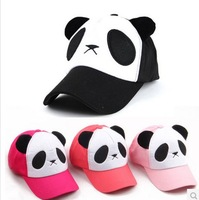 Cartoon panda hat Child Summer Large brim cap outdoor casual Baseball Cap
