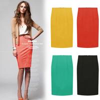 Summer new arrival 2014 fashion all-match slim female slim hip skirt medium skirt female step skirt