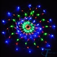 120 LED Colorful Net Light Christmas christmas outdoor decoration Party Holiday Lamp 220V US Navidad decoracion al aire libre